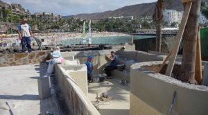 Anfi del Mar SPA on the island (construction work)